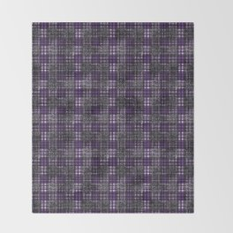 Classical cell in purple tones. Throw Blanket