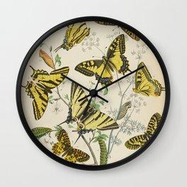 BUTTERFLIES LEPIDOPTERA Scarce Eastern Tiger Swallowtail Wall Clock