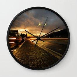 urban sunset Wall Clock