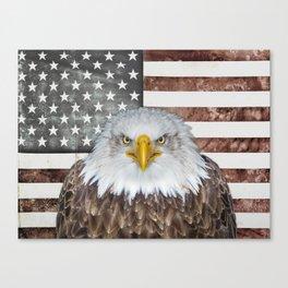 American Bald Eagle Patriot Canvas Print