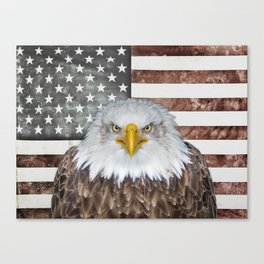 American Bald Eagle Patriot Canvas Print