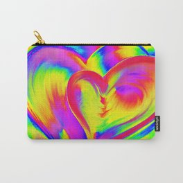 Double Heart beat Carry-All Pouch