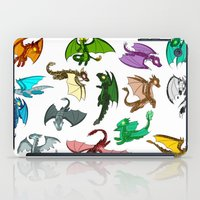 dragons iPad Cases featuring Dragons by prpldragon