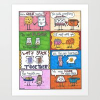 Kitchen Romances  Art Print