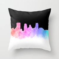 minneapolis Throw Pillows featuring Minneapolis by Emily Brady