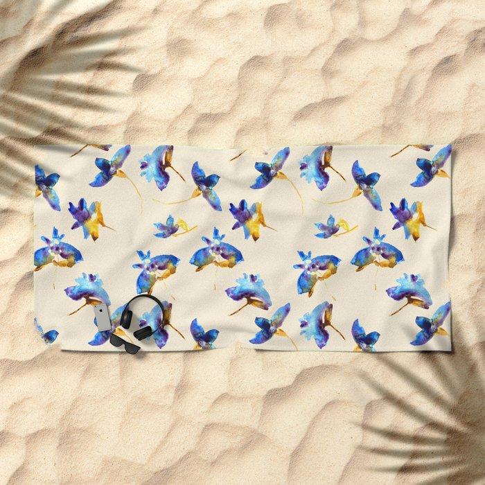 Fancy flowers Beach Towel