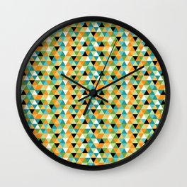 Scandy Triangles Wall Clock
