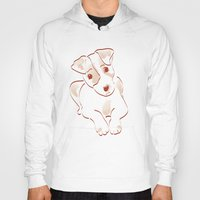 jack russell Hoodies featuring Jack russell by 1 monde à part