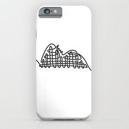 racer express - line rollercoaster iPhone Case