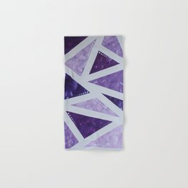 Purple Mosaic Hand & Bath Towel