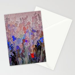 Absract Flowerscape Painting Stationery Cards