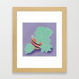 Soft Succulents Framed Art Print