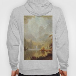 In The Mountains 1867 By Albert Bierstadt | Reproduction Painting Hoody