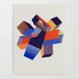 Geometric Painting by A. Mack Poster