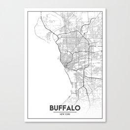 Minimal City Maps - Map Of Buffalo, New York, United States Canvas Print