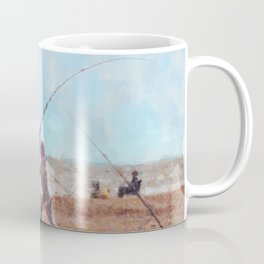Beach Casting At Dungeness Coffee Mug