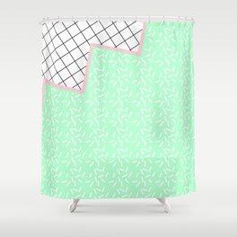 MEMPHIS GREEN Shower Curtain