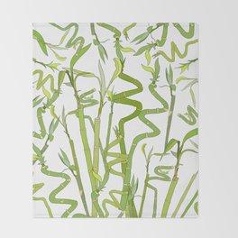 Bamboos Throw Blanket