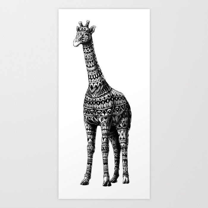 Ornate Giraffe Art Print