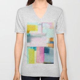 Color Block Unisex V-Neck