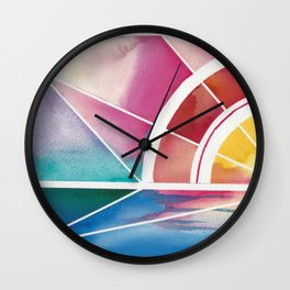 The Play of Light and Water Wall Clock