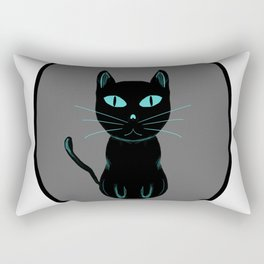 black cat love Rectangular Pillow