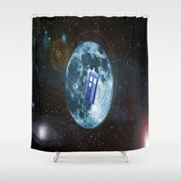 dr who Shower Curtains featuring dr who by store2u