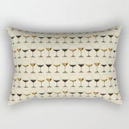 Vintage Wine Glasses Rectangular Pillow
