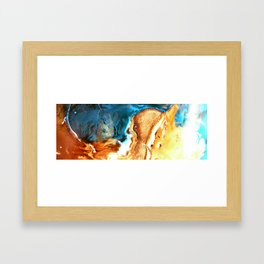 Sand And Water Framed Art Print