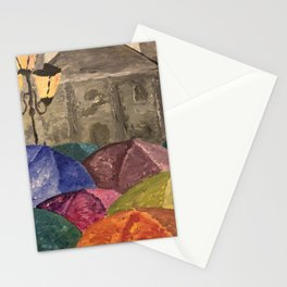 Church at night Stationery Cards