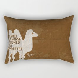 My - A camel is a horse designed by a committee - quote poster Rectangular Pillow