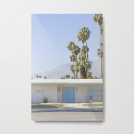 Blue Door, Palm Springs Metal Print