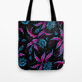 Queen of the Night - Black Purple Tote Bag
