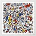 Paris by mondrianmaps