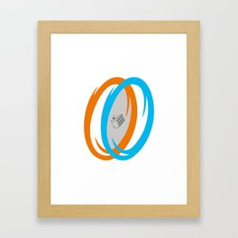 PAUSE – Cake, It's a Lie Framed Art Print
