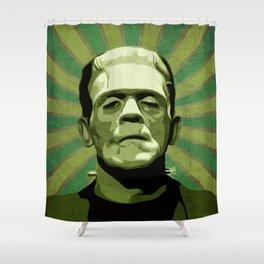 Frankenstein - Pop Art Shower Curtain