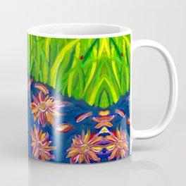 Flowers Float by Ladybug Grass Coffee Mug