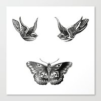 tattoos Canvas Prints featuring Tattoos by Hoeroine