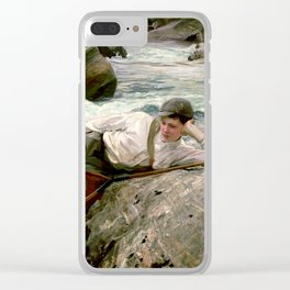 On his Holidays by John Singer Sargent - Vintage Fine Art Oil Painting Clear iPhone Case