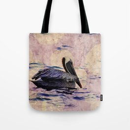 twilight pelican Tote Bag