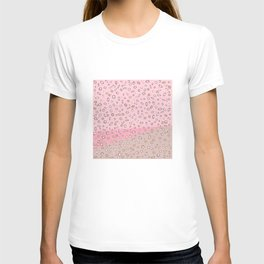 Spotted gradient. pink. brown. T-shirt