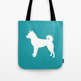 Shiba Inu (Aqua/White) Tote Bag