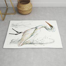 Mr Kotuku , New Zealand White Heron Rug