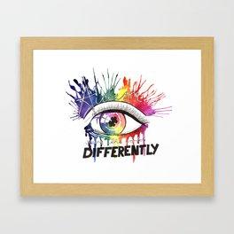 Rainbow Autism Awareness Framed Art Print