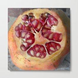 Pomegranate Still Life Metal Print