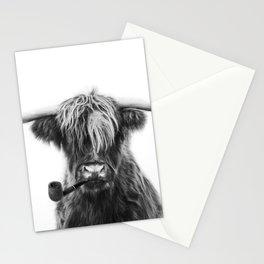 Mr Highland cattle Stationery Cards