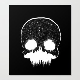 Mountains Skull Canvas Print