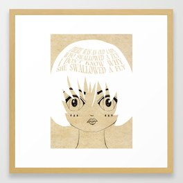 She Died, Of Course - Lessons From Mother Goose Series Framed Art Print