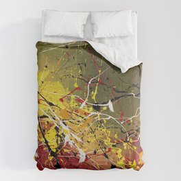 INNERGLOW - Abstract painting design, colorful splash art, Large canvas art Comforters