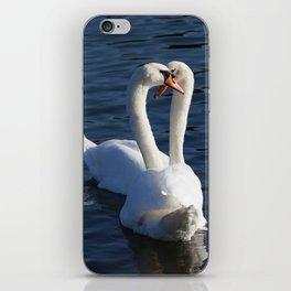 Swan Courtship  iPhone Skin